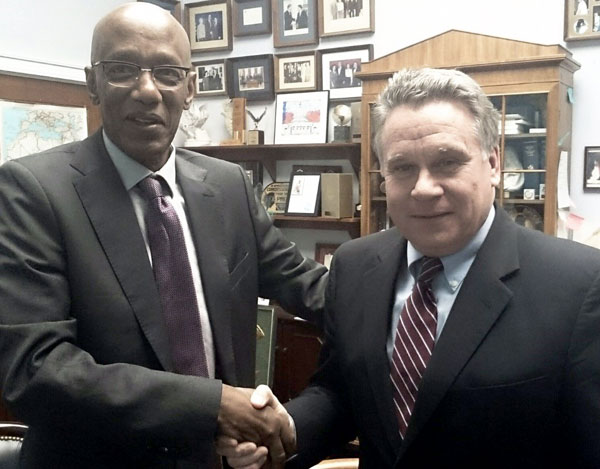 David Himbara with Rep. Chris Smith, Chair of the U. S. House of Representatives subcommittee on Africa, Global Health, Global Human Rights, and International Organizations.