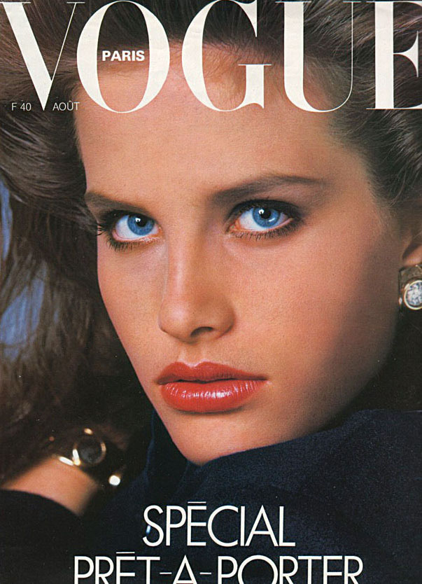 Monika Schnarre on the cover of Vogue