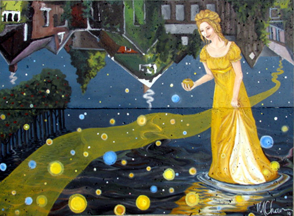 The Lady of Scarborough Village Mural by Margaret Chown