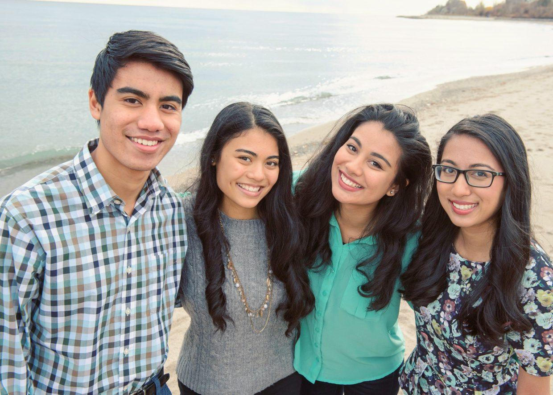 Hasna, Hana, Sarah and Bilal Syed